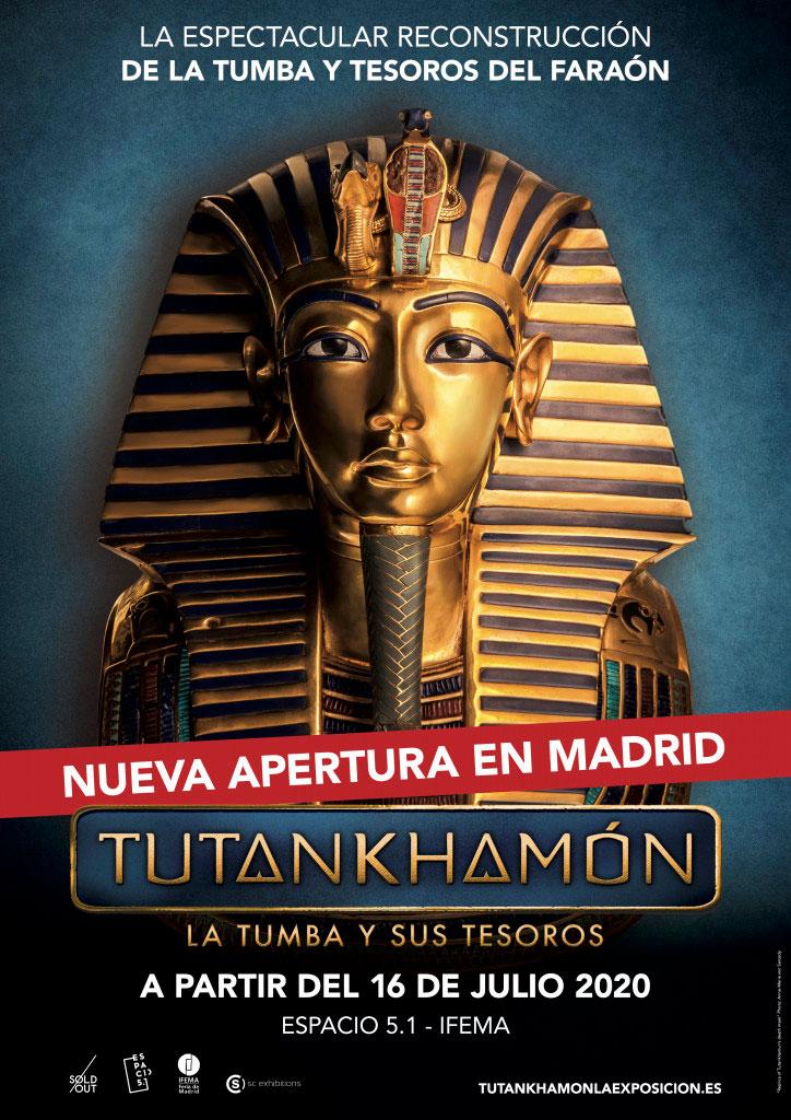 El Rey de los Faraones llega a Madrid. TUTANKHAMÓN. LA TUMBA Y SUS TESOROS